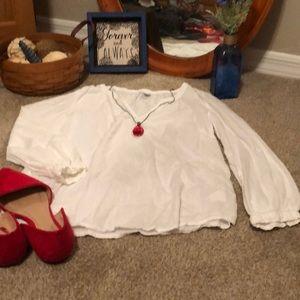 White peasant style shirt
